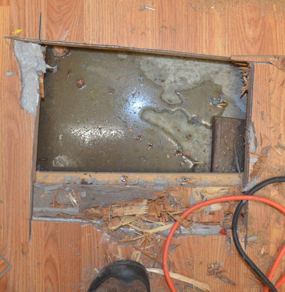 Infiltration d'eau cachée découverte en dessous du plancher, BEBEXPERTS