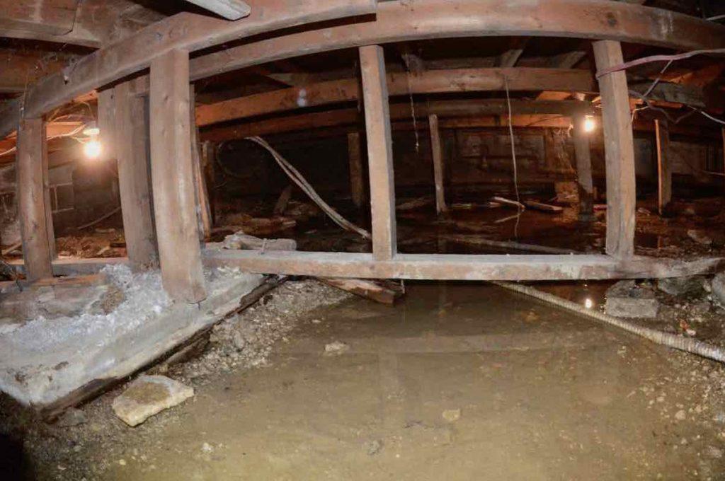 inondation dans un sous-sol