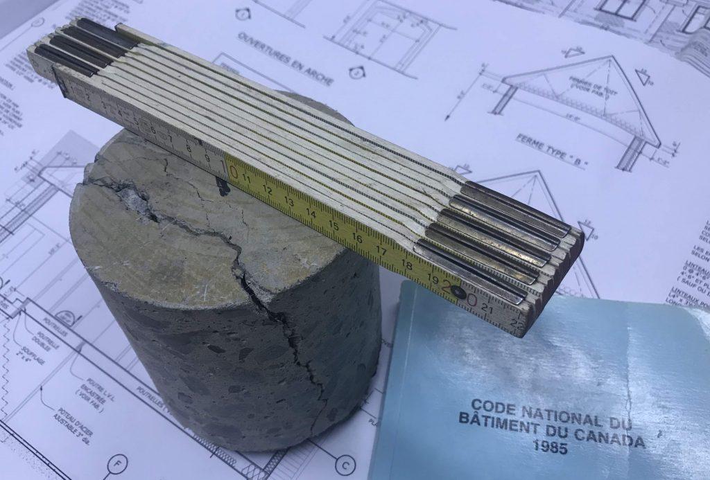 expertise légale vice caché beton fissure béton, Code de construction